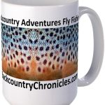 backcountry adventures fly fishing logo coffee mug