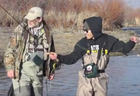 Jeremy fly fishing with backcountry adventures