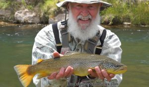jim oneal with another nice utah brown trout