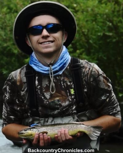provo river brown trout caught on bounce rig with sow bug