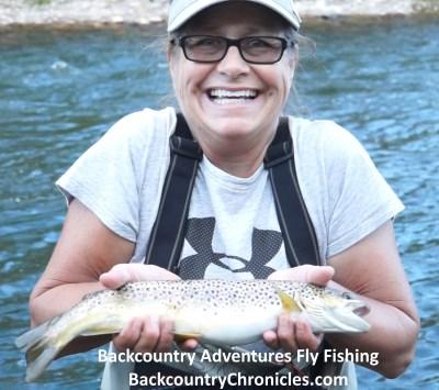 Virginia catches big provo river brown trout
