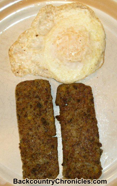 egg and elk liver mush for breakfast