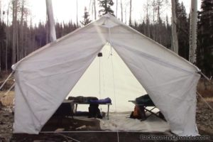 elk mountain wall tent front view