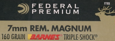 federal premium ammo with barnes triple shok bullet
