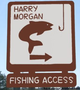 harry morgan blackfoot river fishing access and camp area