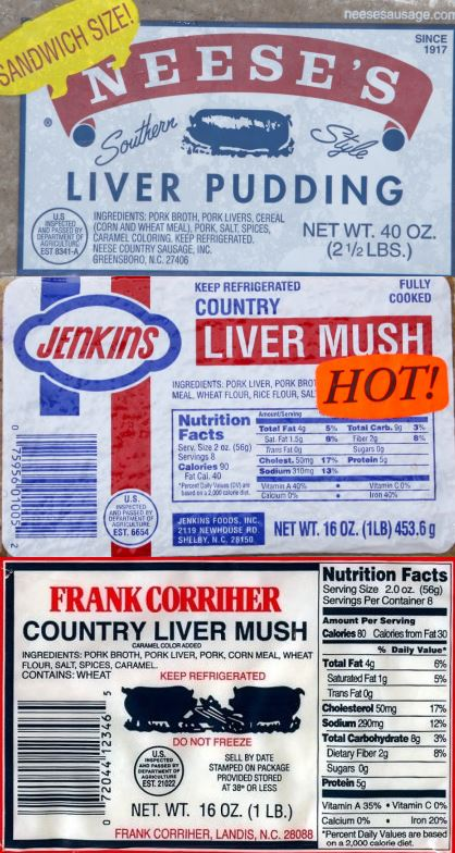 three types of north carolina liver mush