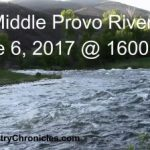 middle provo river running at 1600 cfs