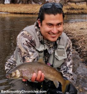 mike with mountain whitefish provo river utah