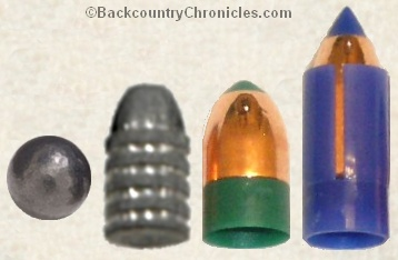 Types of muzzleloader bullets
