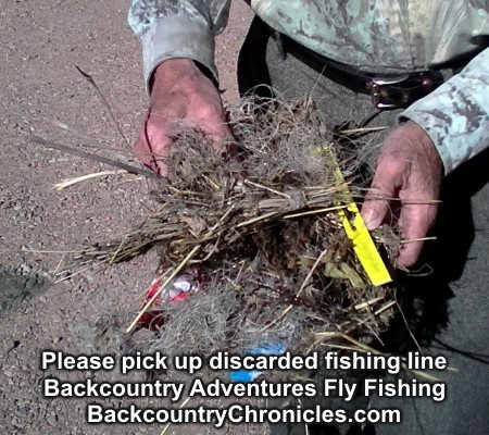 please pick up discarded fishing line
