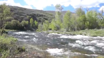 provo river during high spring runoff