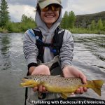 provo river rainbow trout with backcountrychronicles fly fishing