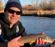 provo river brown trout with backcountry adventrues fly fishing