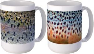 rainbow trout brown trout coffee cups