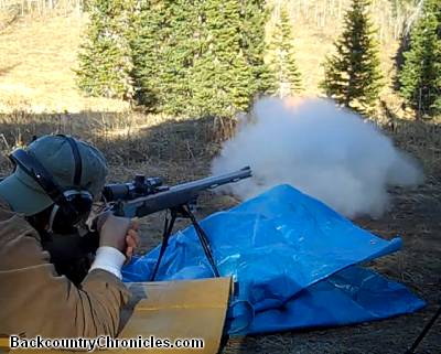 shooting muzzleloader with bipod