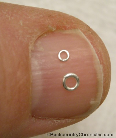 2 mm and 3 mm tippet rings