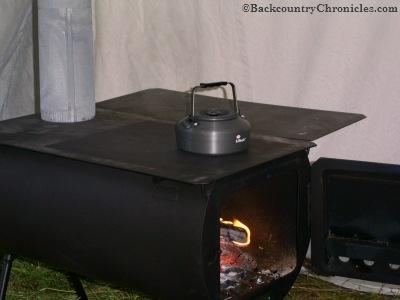 wall tent wood stove