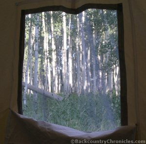 wall tent window with screen