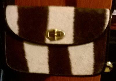 Zebra skin purse